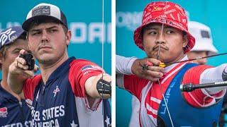 USA v Indonesia – recurve men's team gold   Final Olympic qualifier 2021