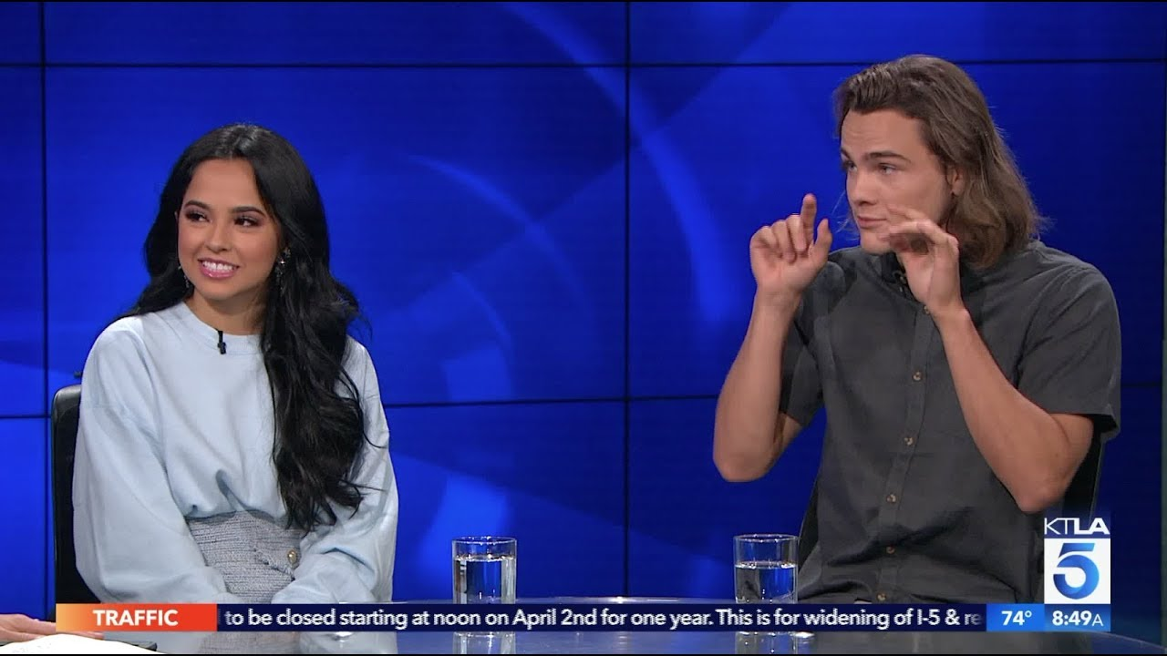Becky G  & Alex Neustaedter on their New Movie
