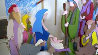 Nativity Scene Made Of Wood