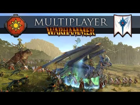 Lizardmen Countering an Anti Monster Build (Total War: Warhammer 2 Online Battle #265)
