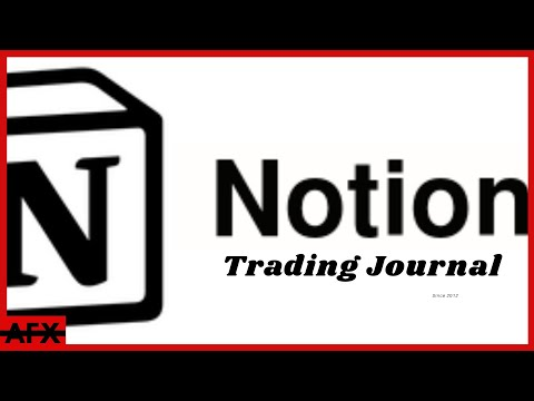 Supply & Demand Trading Journal Using Notion