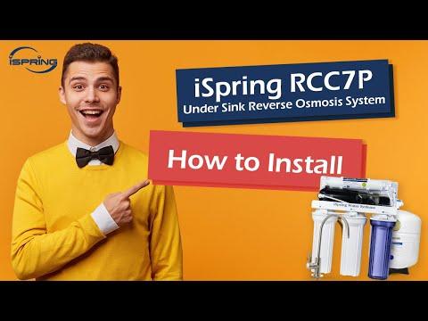 ispring-reverse-osmosis-ro-water-filter-rcc7p-installation