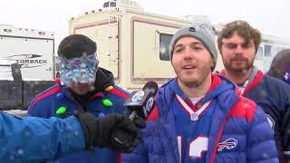 Bills fans brave the cold