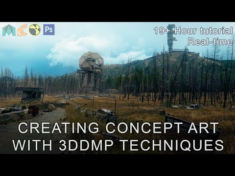 Concept Art using 3DDMP techniques – Tutorial Trailer