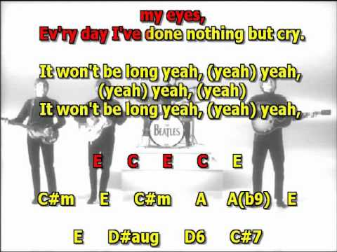 it won't be long  Beatles best karaoke instrumental lyrics chords