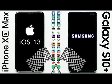 IPhone XS Max (iOS 13 Beta) Vs. Galaxy S10+ Speed Test