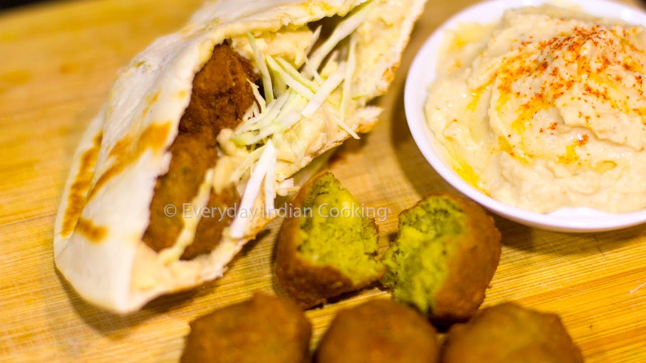 Falafel Sandwich With Hummus Falafel Wrap Pita Bread Sandwich Youtube