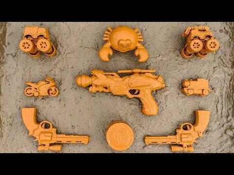 Download Membersihkan Mainan Mobil Truk Monster, Mobil Pemadam, Mobil Polisi, Motor Motoran, Kereta Api