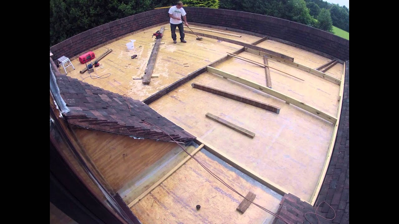 New Fibreglass Flat Roof With Decking Timelapse Youtube
