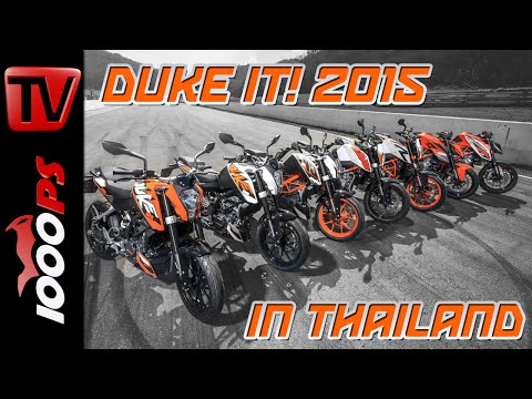 "KTM ""DUKE it!"" 2015 - Grosser DUKE-Test in Thailand - Alle 2015er Dukes!"