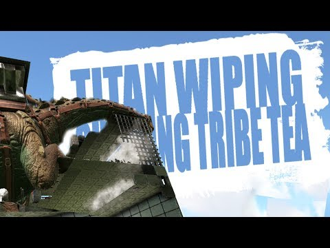 PPG TITAN WIPING CHEATING TRIBE TEA PT.1 (Official Pvp Pirates) - Ark:Survival Evolved - Ep.59
