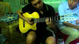 Baby guitar cover - Phiêu sau giờ học - tập 3 :))
