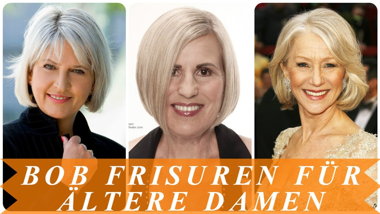 Aktuelle bob frisuren fr ltere damen  YouTube