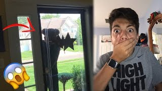 CREEPY STALKER FAN BREAKS INTO MY HOUSE!