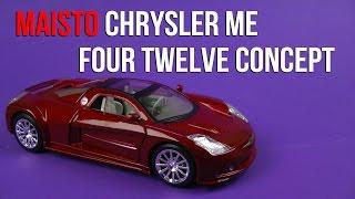 Розпакування модель Maisto (1:24) автомобіль Chrysler мене чотири дванадцять концепції