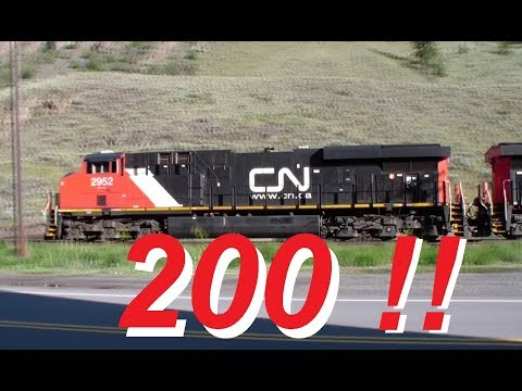 Longest Train Ever Seen ~ 200 FREIGHT CARS ! ~ Rocky Mountains ~ CN Canadian National