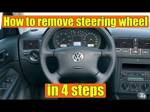 How to remove steering wheel VW Golf Mk4, Bora, Jetta, Polo, Passat, Skoda Octavia 1, Fabia