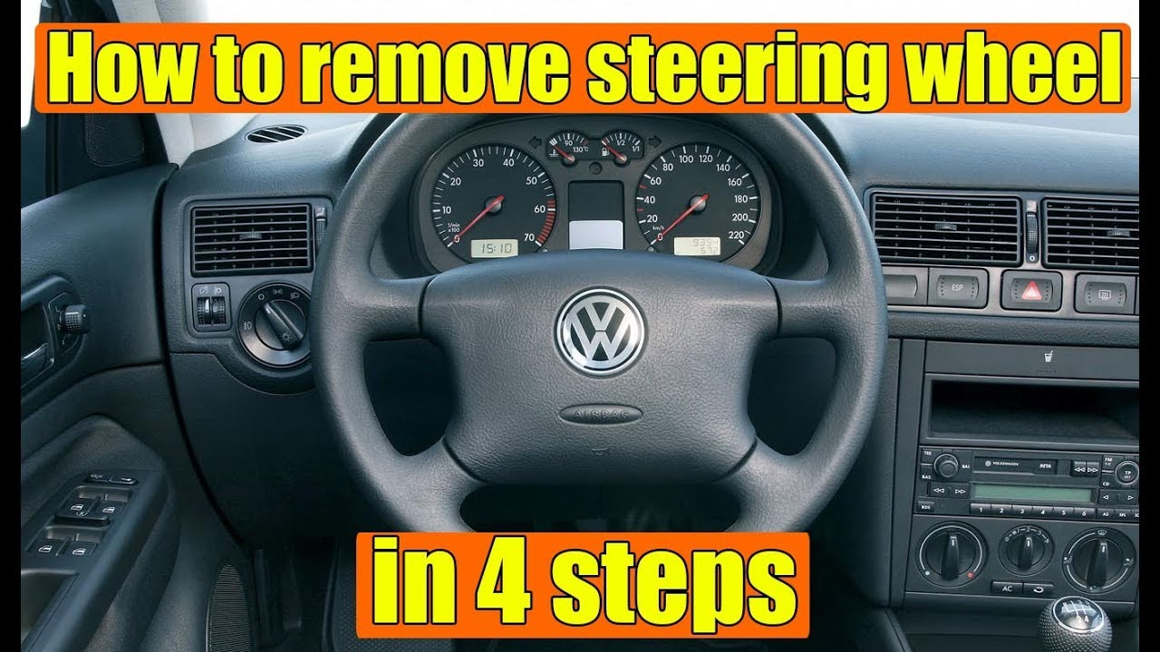 5625ef200c How to remove steering wheel VW Golf Mk4