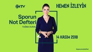 Sporun Not Defteri 14 Kasım  2018