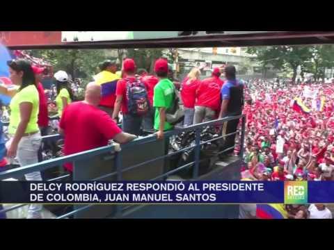 Delcy Rodríguez respondió al presidente Juan Manuel Santos