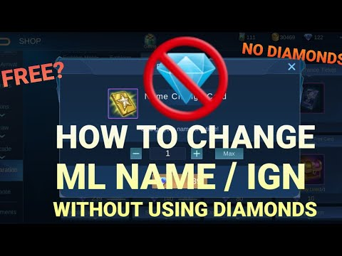 How To Change Ml Ign Name Without Using Diamonds Free Youtube