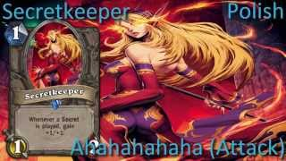 Secretkeeper card sounds in 12 languages -Hearthstone✔