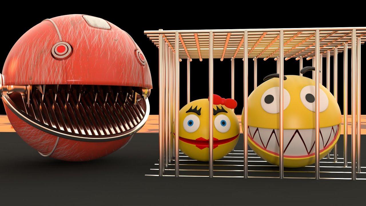 Robot Pacman VS Monster Pacman & Chain Chomp Adventures