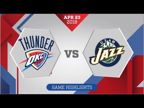Oklahoma City Thunder vs Utah Jazz Game 4: April 23, 2018