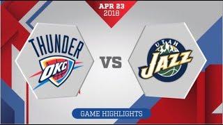 Oklahoma City Thunder vs Utah Jazz Game 4 April 23, 2018