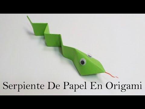 Serpiente En Origami / Serpiente De Papel / Mundo Origami