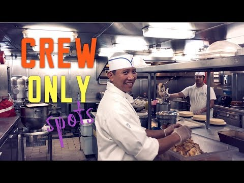 CREW ONLY TOUR On A Cruise Ship