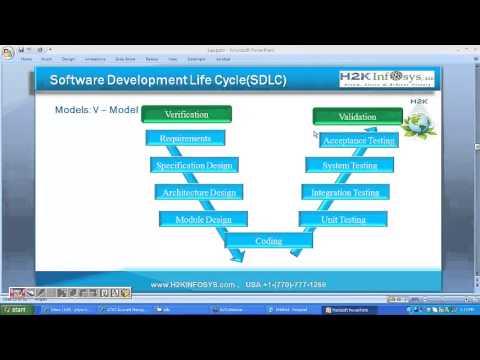 QA Testing Training | V Model in Software Development Life Cycle (SDLC) | QA Testing tutorials