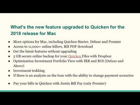 Quicken 2018 for Mac Features