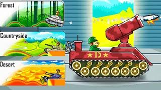 Funny Tanks - URANUS TANK MAP Forest, Desert / Videos for Kids
