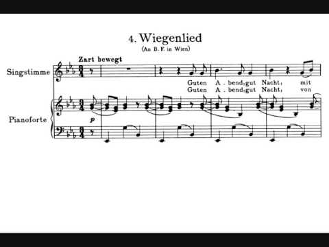 Brahms, Wiegenlied (Lullaby), op. 49 n. 4 (1868) [with english & french subtitles]