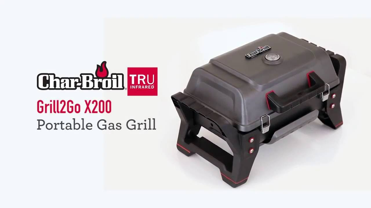 Char-Broil® TRU-Infrared™ Grill2Go X200™ Portable Grill - YouTube