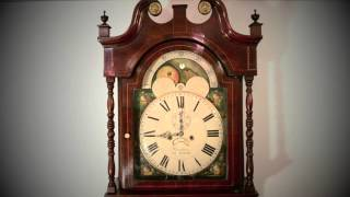 Antique Mahogany Longcase Clock J Howden Edinburghc1800