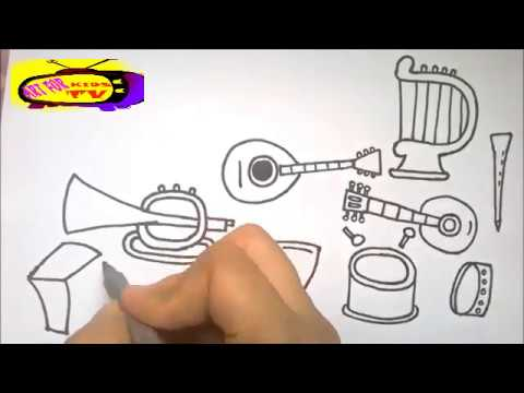 Learn How To Draw Musical Instruments for kids easy ✦❤✦ Art for kids TV