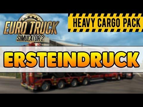 SCHWERLAST TRANSPORT DLC Euro Truck Simulator 2 - Ersteindruck - ETS2 Heavy Cargo Pack-DLC