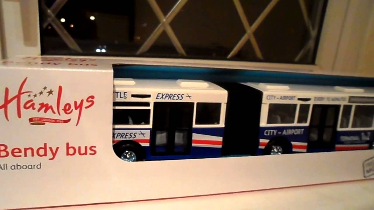 DICKIE TOYS FOR HAMLEYS TOY SHOP LONDON BENDY BUS 2 VERSIONS - YouTube