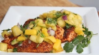 Chili Salmon W/ Pineapple Mango Salsa Recipe..so Yum!