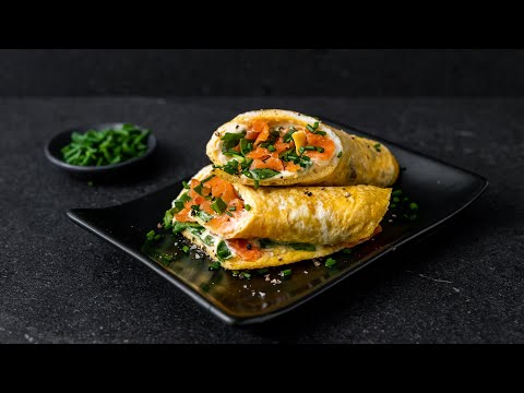 Salmon, Cream Cheese & Spinach Egg Roll