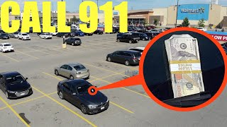 if you ever see a stack of money on your car, run and call the Police instantly! (It's a TRAP)