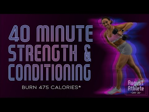 40 Minute Strength and Conditioning Workout 🔥Burn 475 Calories!* 🔥 Sydney Cummings