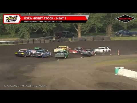 Sportsman/Hobby Stock Heats - Rapid Speedway - 7/12/19