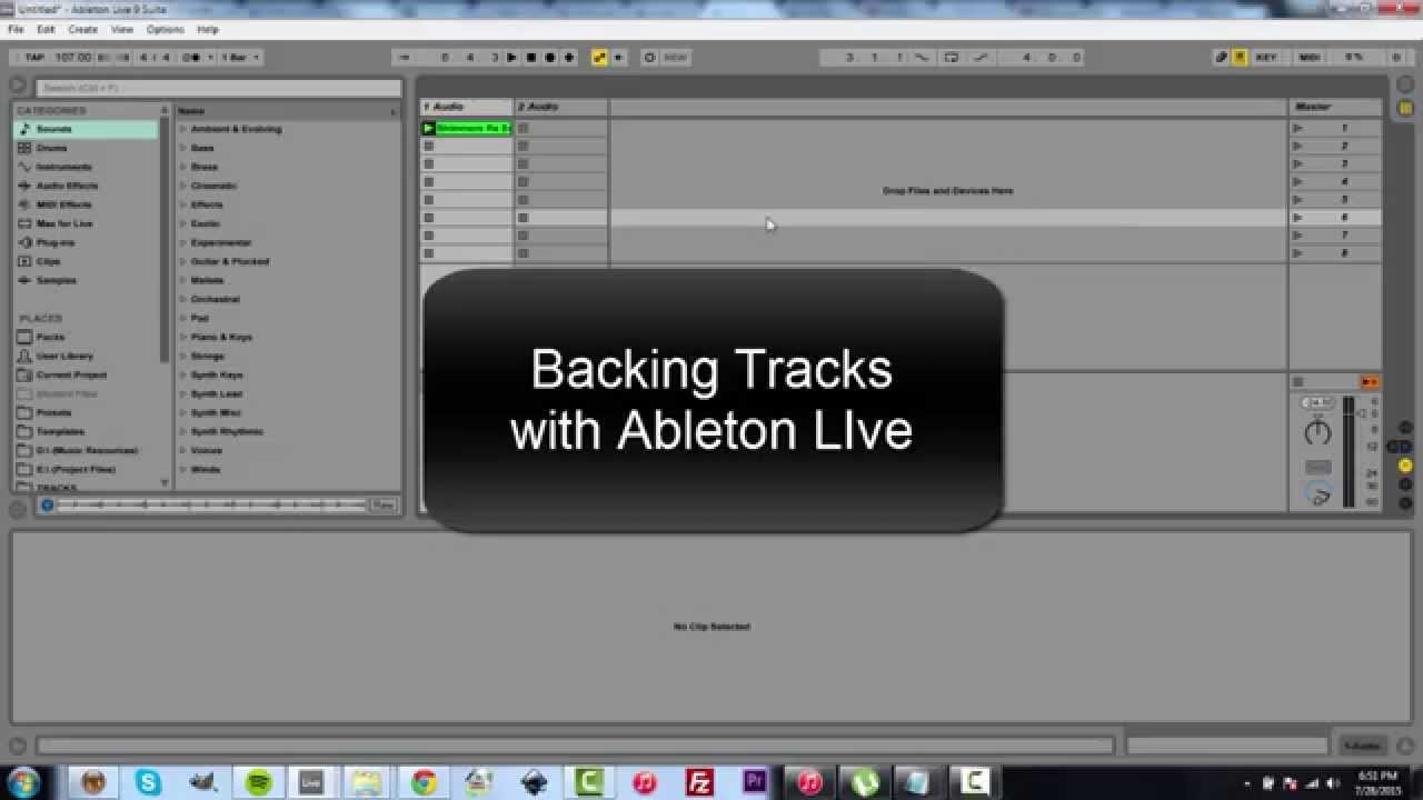How To Create a Live Performance Setup using Ableton Live