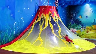 Family fun playtime at Indoor Playground for children with Vlad and Kirill