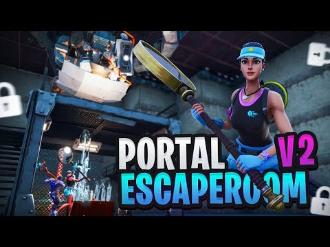 DE PORTAL ESCAPEROOM V2 - Fortnite Creative met Rudi