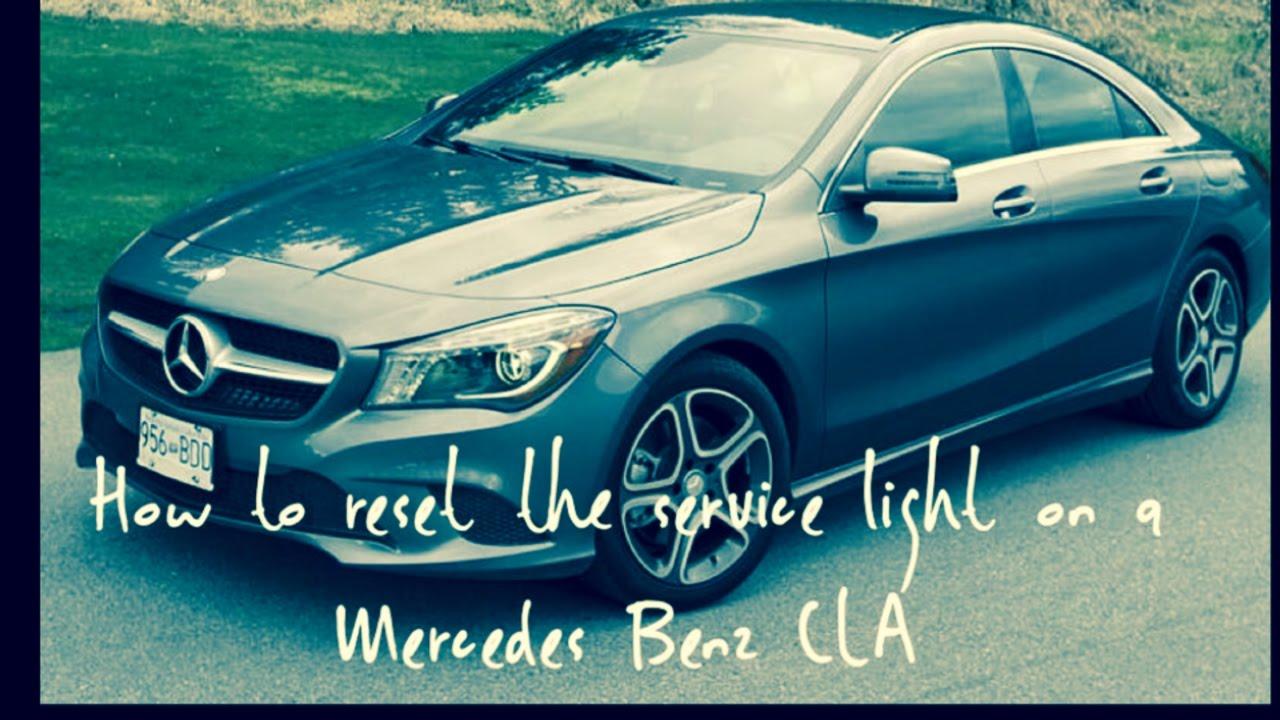 Mercedes Benz CLA maintenance light reset