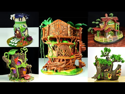 5 Top Best DIY Original Design Miniature Houses | Recycling Projects | Making Fairy House at Home